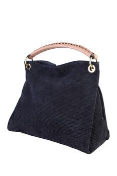 Made in Italia Silvia Suede Shoulder Bag