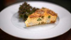 Chicken and asparagus quiche