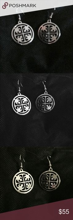 Tory Burch Silver Earrings Tory Burch Pierced Silver Tone Earrings - NWOT Tory Burch Jewelry Earrings