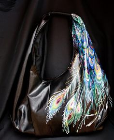 Hand painted handbag by S. Stevenson Designs...only $100.00! I'm getting one!!