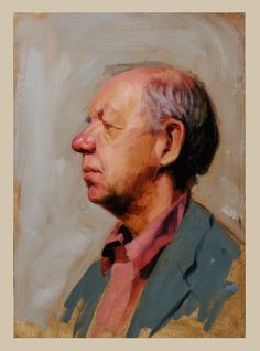 The Alla prima technique, is an informal way of capturing the individuals character and give a more lively feel to the subjects expression. #OilPaintingMan