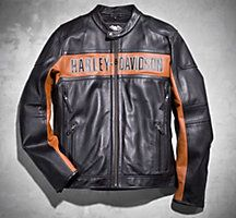 Classic Harley Davidson Leather Riding Jacket