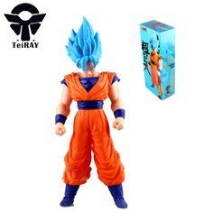 22.97$  Watch now - Dragon Ball Z Super Saiya Son Goku Anime Figma 42Cm Japan Bandai Big Size Red Pvc Action Figures Kids Hot Toys for Children Boys  #SHOPPING