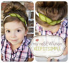 cute headband tutorial.
