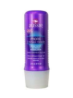 Aussie Moist 3 Minute Miracle Condition, $4.49. Reforms the most overprocessed hair yet won't overwhelm fine and frizzy types.