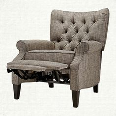 Easton Upholstered Recliner in Elmont Ink