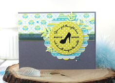 Fantastic card using crowd-favorite Marilyn Monroe quote from a clear stamp by…