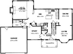 Plan 44045td center hall colonial house plan pinterest for Colonial floor plans open concept