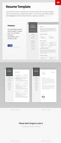 Resume Word Resume words, Cv template and Modern resume - word resumes