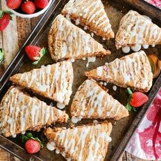 Whole Wheat Strawberry Ricotta Scones With A Lemon Glaze - Whole-Wheat Strawberry Ricotta Scones with a Lemon Glaze