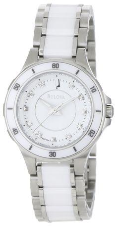 5c48d0d31a20 Bulova Women s 98P124 Substantial Ceramic   Stainless Steel Watch