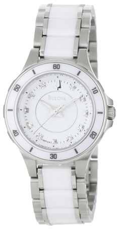 5f7f51ed0c3b Bulova Women s 98P124 Substantial Ceramic   Stainless Steel Watch
