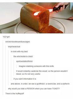 Hogwarts houses on light saber application