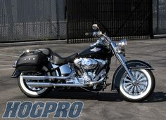 HogPro mystics in 16x3.5 on a softail deluxe