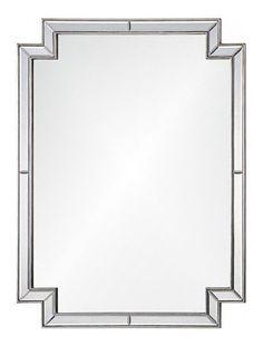 Art Deco Framed Mirror - Antique Silver   Scenario Home