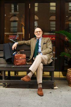 - stylish old man