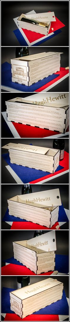 Here is an appreciation #wine gift box I presented to Hugh Hewitt, talk show host - it is laser engraved with his amicus brief published in a Washington newspaper