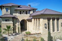 Tuscan style, European design.  Wow, it's like a modern day castle.