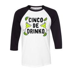 Cinco De Mayo - Cinco De Drinko Baseball T Shirt
