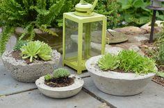 DIY concrete planters www.ciburbanity.com