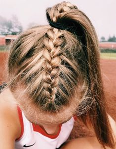 hairstyles up in a ponytail hairstyles cornrows braid hairstyles hairstyles with 4 packs of hair hair vines hairstyles girl with weave hairstyles quiff hairstyles Athletic Hairstyles, Soccer Hairstyles, Track Hairstyles, Quiff Hairstyles, Braided Ponytail Hairstyles, Hairstyle Short, Famous Hairstyles, Pretty Hairstyles, Hairstyles 2018