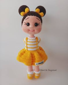 In this article amigurumi doll free crochet patterns and amigurumi knitting toy images are waiting for you. Everything you're looking for in Amigurumi. Crochet Dolls Free Patterns, Crochet Doll Pattern, Amigurumi Patterns, Amigurumi Doll, Doll Patterns, Crochet Gratis, Cute Crochet, Crochet Cushions, Stuffed Animal Patterns