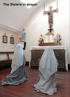 Franciscan Sisters of the Immaculate in Adoration before the Tabernacle
