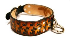 Periodic Table Dog Collar Handmade and Screen Printed by RuffHaus