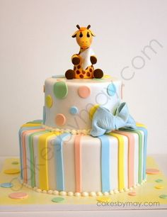 Sweetest Giraffe baby shower cake