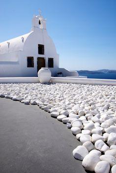 Little white church, Oia, Santorini, Greece