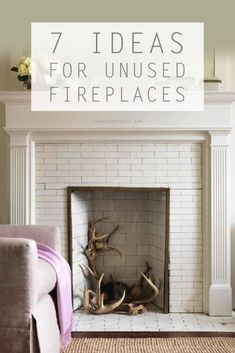 Image result for how to fill a mock fireplace