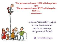 5 Boss Personality Types every Professional needs to manage for peace of Mind