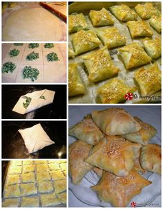 Kalitsounia with spinach and mizithra Greek Recipes, Indian Food Recipes, Ethnic Recipes, Vegetable Pie, Savory Muffins, Cheese Pies, Greek Dishes, Yummy Food, Delicious Recipes
