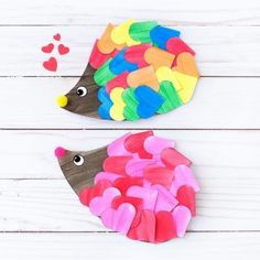 12 Fun Valentine Crafts For Kids - day crafts f. - 12 Fun Valentine Crafts For Kids – day crafts for teenagers - Valentine's Day Crafts For Kids, Valentine Crafts For Kids, Valentine Decorations, Diy And Crafts Sewing, Arts And Crafts, Art Plastique Halloween, Hedgehog Craft, Happy Hedgehog, Kinder Valentines