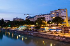 Danube Canal in Vienna During the Blue Hour Vienna Nightlife, Blue Hour, Night Life