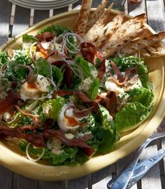 Caesar salad | Karen Martini - Best I have ever had... I make it with Pancetta instead of bacon :)