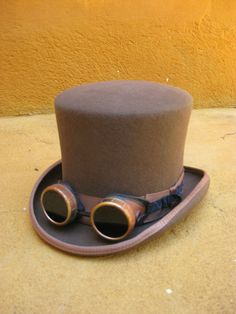 eBay | chapeau haut de forme top hat steampunk neuf avc emballage + goggles + aviator