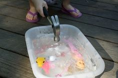 A frozen tub of summer fun. Just add sun and a hammer. Or freeze tiny toys in ice cubes.