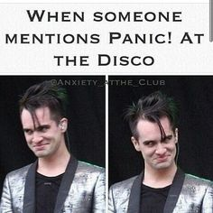 Hahaha! (Although no one ever mentions Panic! at The Disco because the people I know aren't COOL enough)