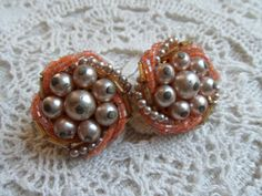 Vintage Clip Earrings with Faux Pearls and by CalfTownStudios, $5.25
