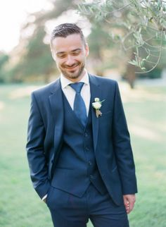 Navy tux: http://www.stylemepretty.com/little-black-book-blog/2015/02/25/rustic-charm-in-the-south-of-france/ | Photography: Greg Finck - http://www.gregfinck.com/
