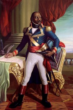 "Toussaint L'Ouverture - leader of the Haitian Revolution. Louverture told his captors. ""In overthrowing me, you have cut down in Saint-Domingue only the trunk of the tree of liberty."" ""It will spring up again by the roots, for they are numerous and deep. Art Haïtien, Haiti History, Haitian Men, Die A, Haitian Revolution, Black Royalty, African Royalty, Black History Facts, African Diaspora"
