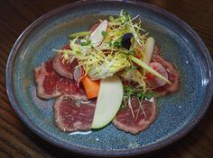 One of my favourites @eatforeign has been this flavourful Angus Beef Striploin Tataki with granny smith apple frisée red onion and Asian mustard nuoc cham. Love that the beef  flavour really shines through. #yycfood #yyceats #beeftataki #angusbeef #eatforeignyyc #alternativeasiandining #myfave #summereats