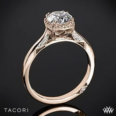 Tacori 2620RDSM Dantela Crown Solitaire Engagement Ring | 2600