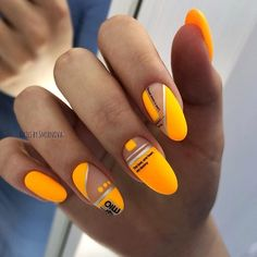 Want some ideas for wedding nail polish designs? This article is a collection of our favorite nail polish designs for your special day. Bright Nails, Yellow Nails, Oval Nails, Matte Nails, Winter Nail Art, Winter Nails, Nail Art Halloween, Romantic Nails, Wedding Nail Polish