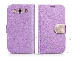 Twinkle Series Samsung Galaxy S3 Flip Leather Case i9300 - Purple