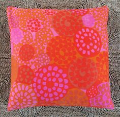 Vintage Finnish Textile by Marjatta Metsovaara, pillow