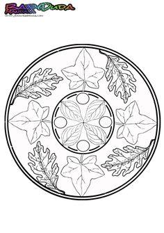 Schöne Ausmalbilder zum Herbstanfang: Schau Dir das Mandala an auf BabyDuda: http://babyduda.com/herbst-mandala-ausmalbilder-und-malvorlagen/
