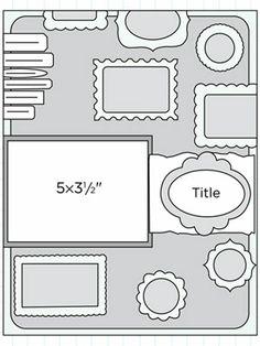 Scrapbook Page Sketch 109