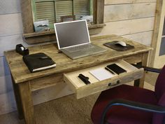 Driftwood Desk with Draw 50 x 24 x 30H by DriftwoodTreasures, $629.00